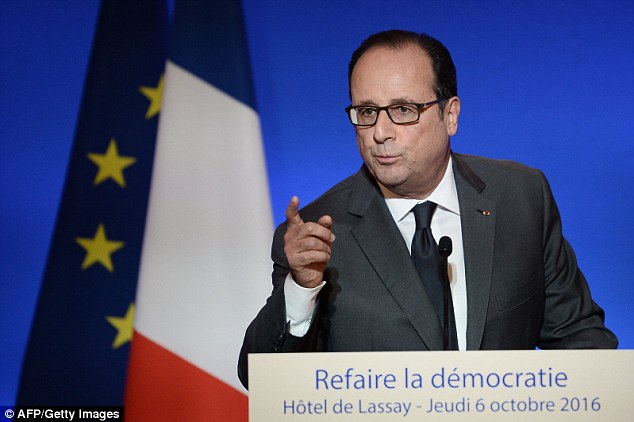 French president Francois Hollande has admitted the country 'has a problem with Islam' and warned France's national symbol will one day by a woman in a burka