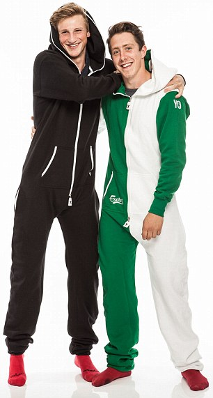 Enterprising: Chris Rea and Tom Carson put part of their loans into their onesie business