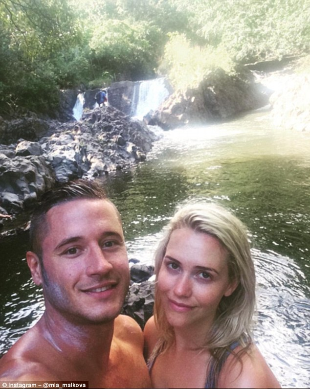 Danny Mountain and wife Mia Malkova regularly invite viewers into their bedroom, but the golden couple of porn look positively innocent in this romantic holiday snap taken on the Pipiwai trail in Hawaii