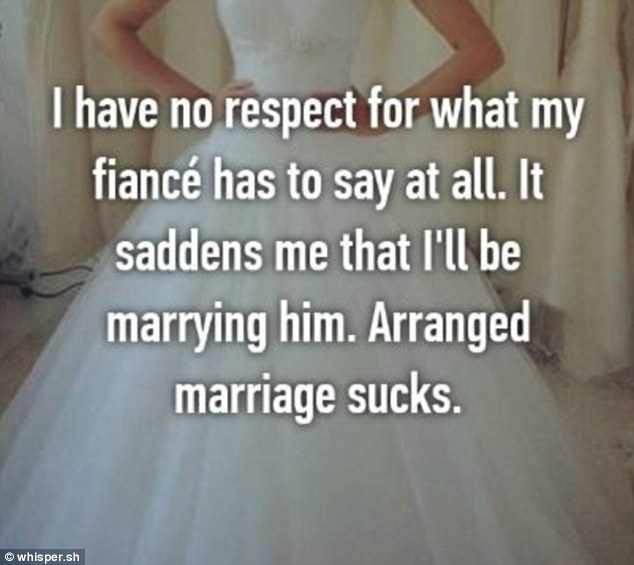 It wasn't just love that was missing from one marriage, as a user revealed she had 'no repect' for her fiance