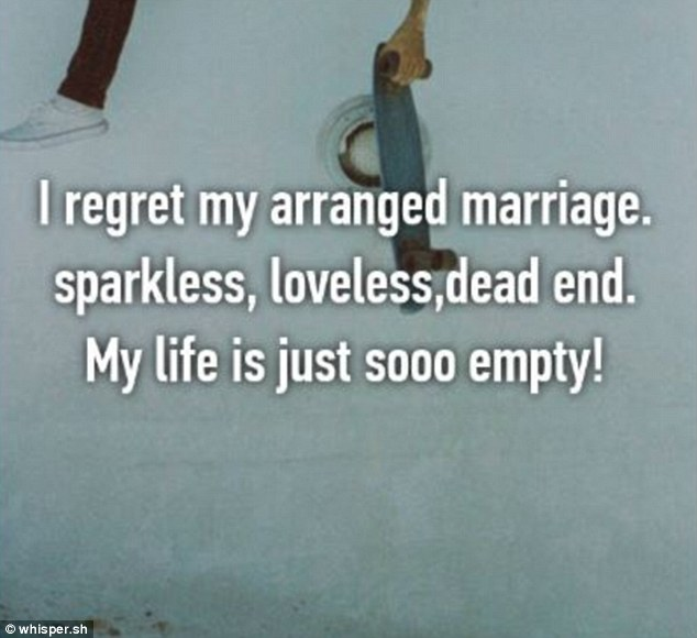 One user called their arranged marriage 'sparkless, loveless, dead end' in a frank admission