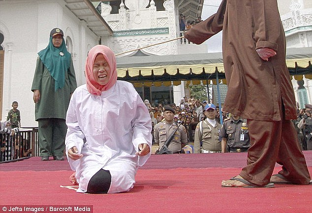Nur Elita was marched to the yard of Baiturrahumim Mosque in Banda Aceh at the end of last year and received five lashes
