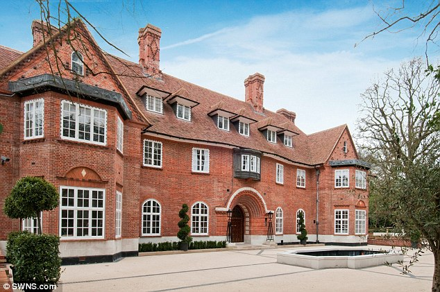 Justin Bieber is renting this 15-bedroom mansion in North London, pictured, for £108,000 per month or around £1.3million per year