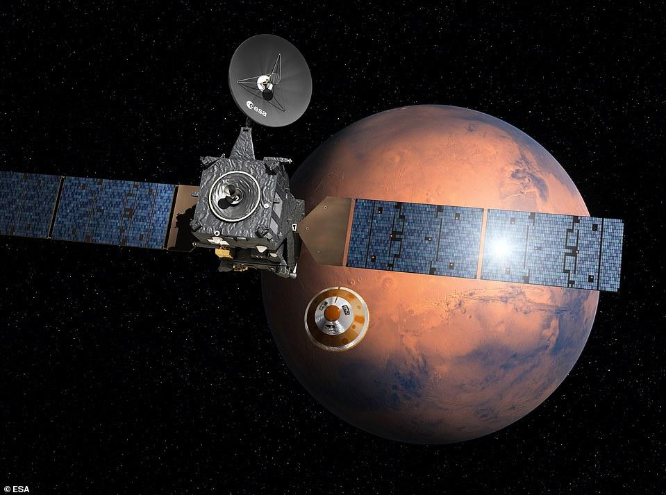 """Képtalálat a következőre: """"Nasa releases images of ESA's crashed Schiaparelli lander on Mars"""""""