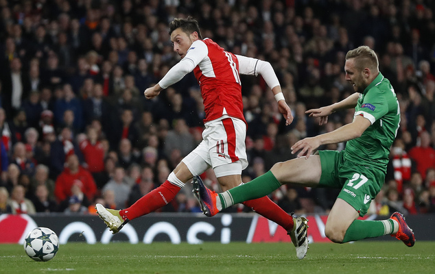 Image result for Arsenal 6-0 Ludogorets: Mesut Ozil hits hat trick in Emirates