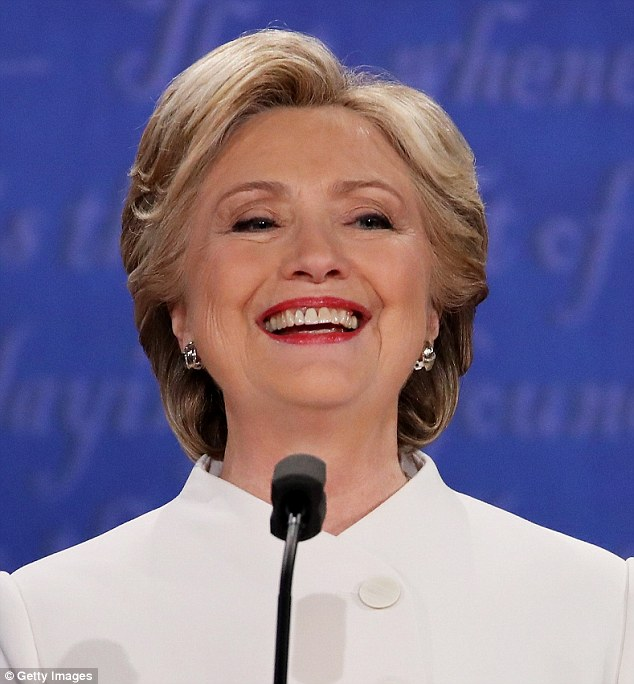 Image result for hillary clinton constantly smile at third debate October 19, 2016