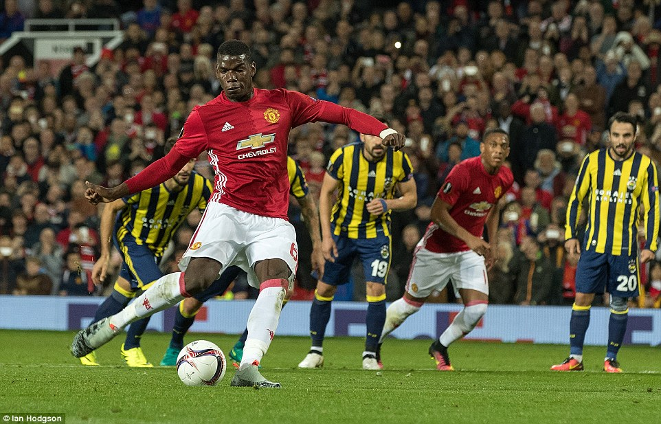 Image result for Manchester United 4-1 Fenerbahce: Pogba nets two as Van Persie scores on Old Trafford return