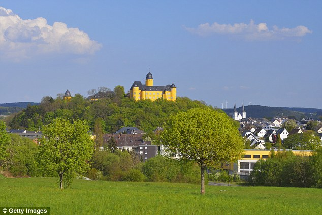 He lives in Montabaur (pictured) - hometown of kamikaze Germanwings pilot Andreas Lubitz who killed 148 people last year