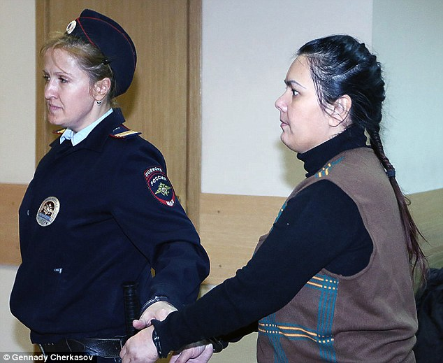 Bobokulova's (right) court appointed lawyer revealed she has been ruled mentally incapable of standing trial after being diagnosed with paranoid schizophrenia