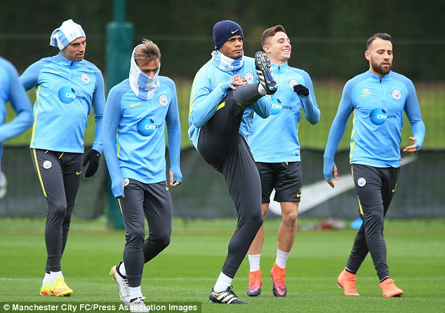 Kompany trained less than 24 hours after leaving the field against Manchester United