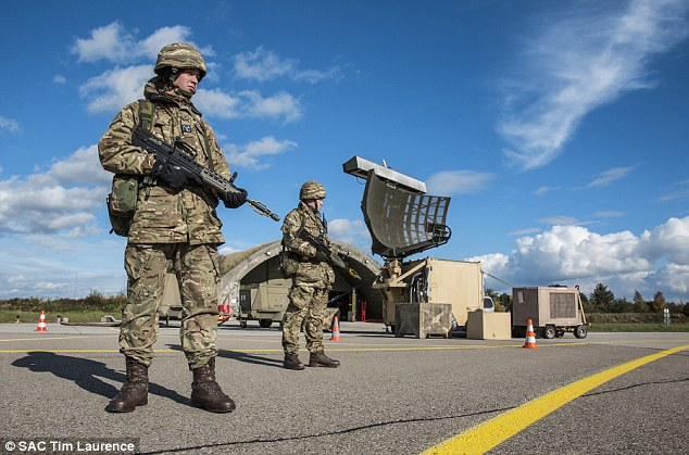 RAF personnel are among a 600-strong training group at Lechfield Air Base in Bavaria working with others from France, Spain, Belgium, Germany, the Netherlands and Italy