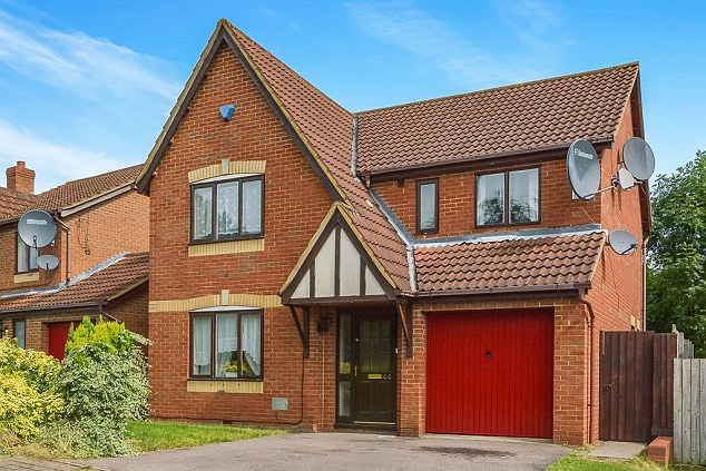 They have moved into this £425,000 four-bedroom home, pictured, in Milton Keynes