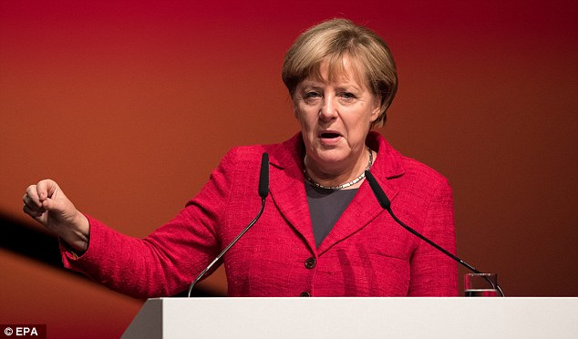 Angela Merkel (pictured) is under more pressure over her refugee policy after it was revealed migrants committed 142,500 crimes in Germany during the first six months of 2016