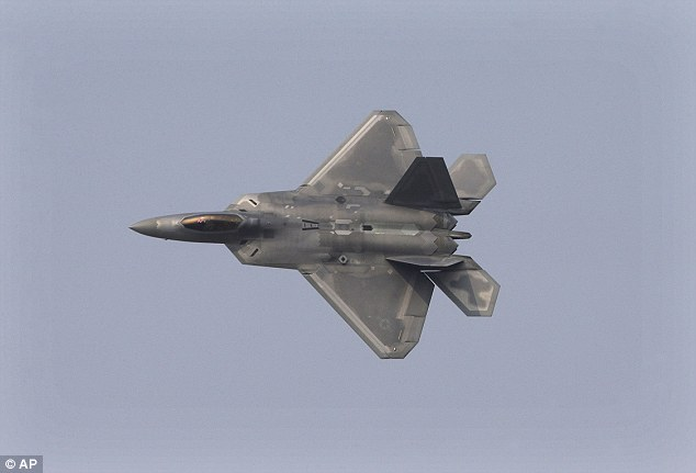 Spot the difference: America's F-22 (pictured)  shares many identical features