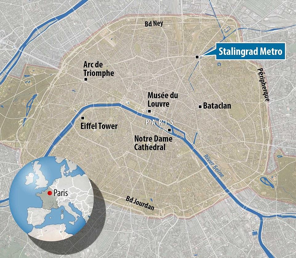 La bagarre aurait eu lieu près de la station de métro Stalingrad au nord-est de la capitale française