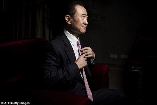 Billionaire: Wang Jianlin, 62, is the owner of the $44.7billion Dalian Wanda Group, which announced on Friday its $1billion acquisition of Dick Clark Studios