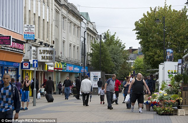 LUTON: In 2001 64 per cent of all residents were white - in 2011 this dropped to 44.6 per cent