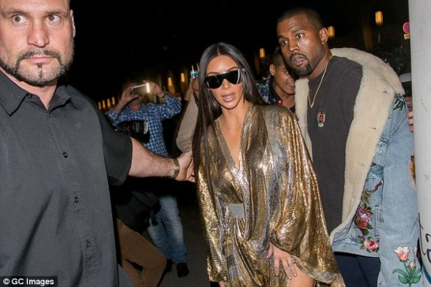 End of an era: Kim Kardashian and Kanye West have fired longtime bodyguard Pascal Duvier, who has been with the family since 2012 (above on September 29, 2016)
