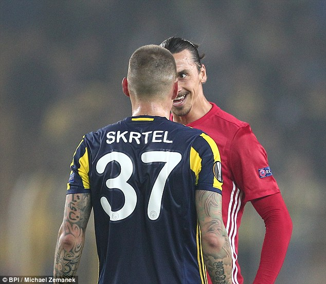 Ibrahimovic also shared a flashpoint with former Liverpool centre back Martin Skrtel