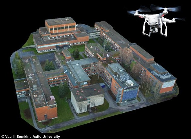 The drone that can create a perfect 3D map of any town and could     Researcher have devised a new method that involves taking aerial  photographs of an area with a