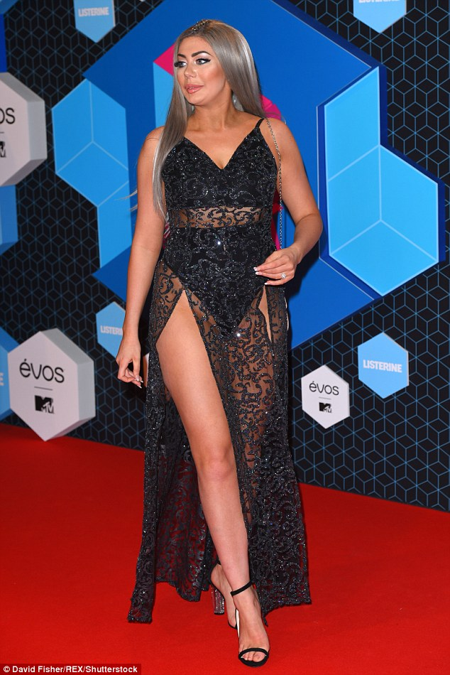 MTV EMAs 2016 Geordie Shores Chloe Ferry Flashes Her