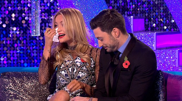 Welling up: Laura broke down being eliminated from Strictly Come Dancing