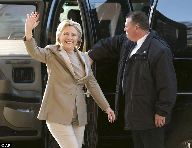 Hillary Clinton arrived at her polling place around 8 a.m. after getting back from a long day of campaigning at 3:22 a.m., with supporters greeting her plane in Westchester