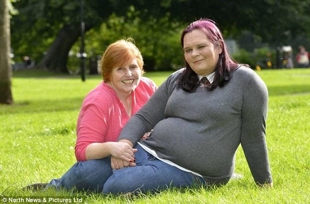 Fiona, 48, left, said she was prepared to leave Stephanie when the issue was first raised but years later was able to accept her after undergoing counselling