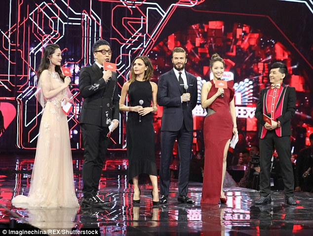 Launching: The famous couple lent star power to the Global Shopping Festival Countdown Gala in Shenzhen, Guangdong Province