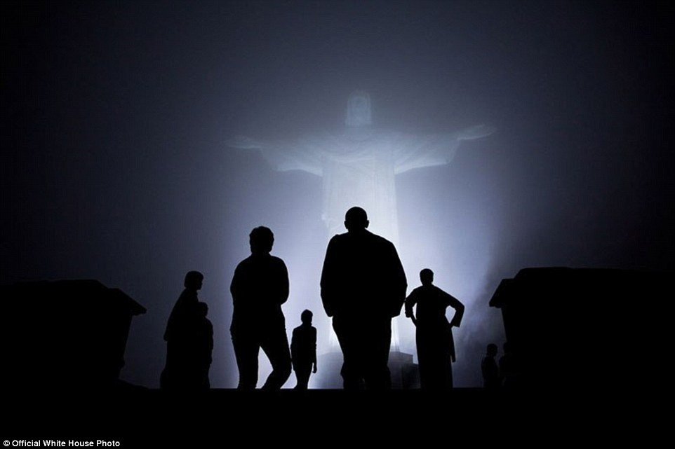 Visiting the Christ the Redeemer Statue in Rio de Janeiro, Brazil, March 20, 2011