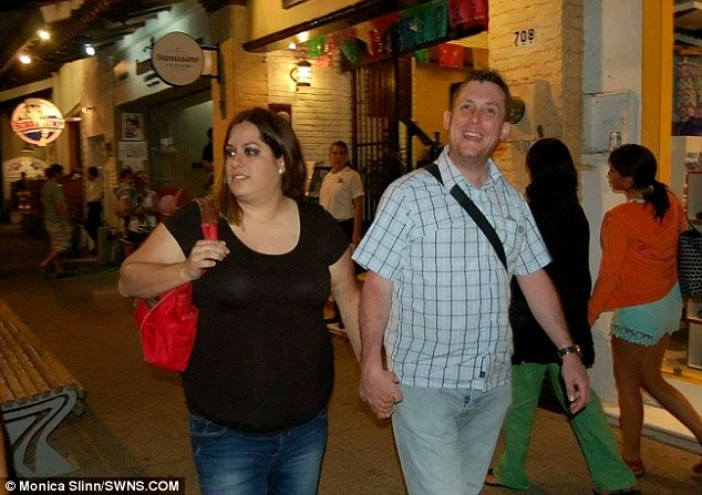 Monica (pictured with Luke) ballooned to a size 22 in her late 20s after she started comfort eating and scoffing huge portions to deal with a messy break-up