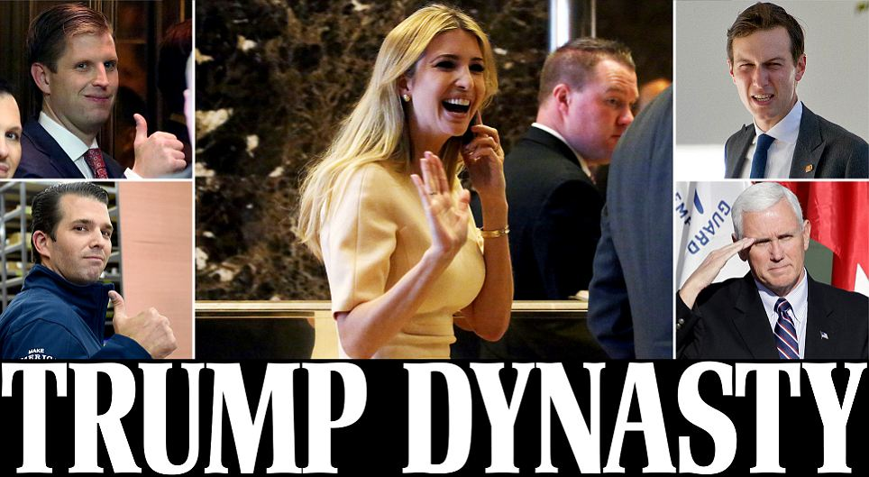 Trump puts Pence in charge of transition and appoints Ivanka and Jared Kushner to team