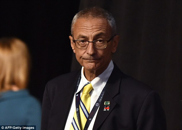 Clinton campaign chair John Podesta referred to Comey as someone 'who we think may have cost us the election' with his last-minute bombshell announcement about Clinton's emails