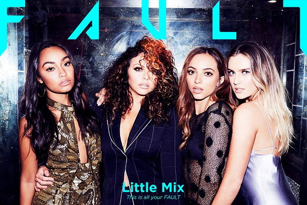 Not our fault: The Little Mix girls took part in a photo shoot for Fault magazine, which saw them showing off their enviable figures and taking part in an accompanying interview