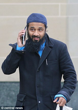 Syed Hoque (pictured outside the Old Bailey) is said to have supplied cash to the terrorist, his nephew Mohammed Choudhury, and discussed the beheading of enemies