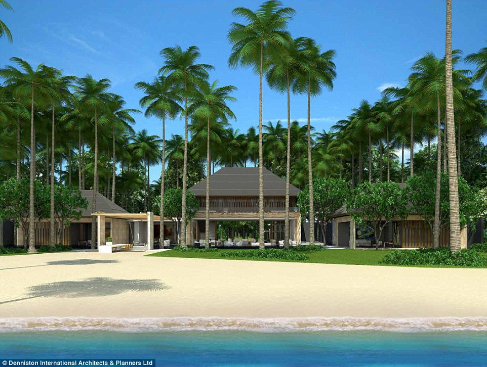 New artist renderings for Leonardo DiCaprio's resort on a small island off the coast of Belize - slated for opening in 2018 - have been released