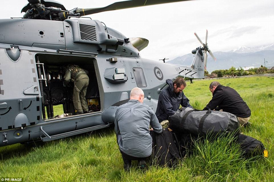 Aerial surveys by Royal New Zealand Air Force aircraft took place on Monday and some tourists were evacuated
