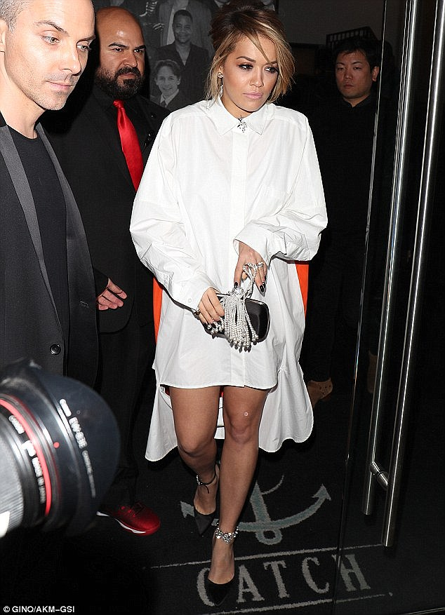 Back to the studio: Rita has also finally been able to focus on her second studio album after she settling a six-month legal dispute with Jay Z's label Roc Nation earlier this year