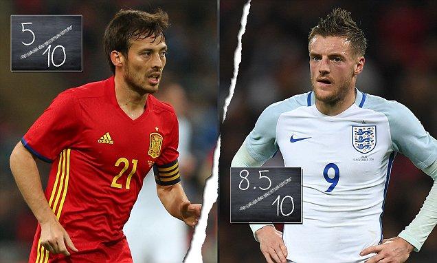 England 2 2 Spain PLAYER RATINGS Jamie Vardy Impresses