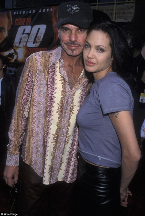 'She's a great person': Despite their split, the star says he and Angelina (seen here in 2000) are still friends but do not see each other much