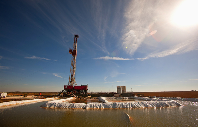 A new geologist survey has revealed the biggest continuous oil field ever discovered in the America hidden under west Texas (Robinson Drilling rig No. 4 in Midland County, Texas in February 2016)