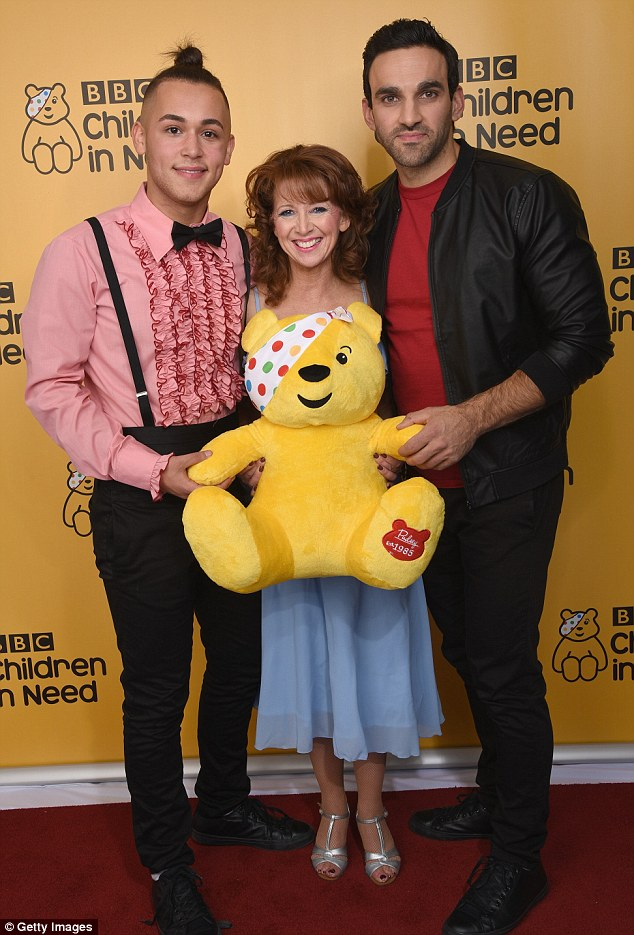 Doing their bit: Bonnie, alongside Shaheen Jafargholi and Davood Ghadami embarked on the toe-tapping number to help raise money for BBC's Children in Need