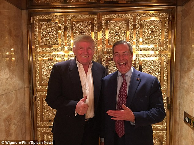Farage has taken to social media to hail 2016 'the year of political revolution' and the 'political underdog' with the Brexit vote in the UK and the election Donald Trump in America