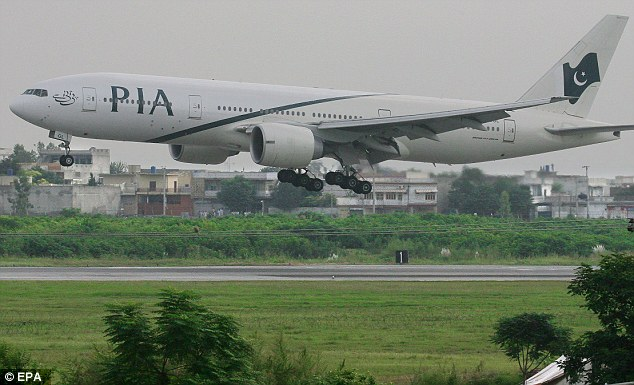 The Pakistan International Airlines Boeing 777-200 (pictured in 2007) had left Toronto and was heading for Lahore in Pakistan when the problem was discovered mid-air over the North Sea