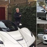 Gordon Ramsay Stunned After Taking Delivery Of A 1m Ferrari Laferrari Aperta Daily Mail Online