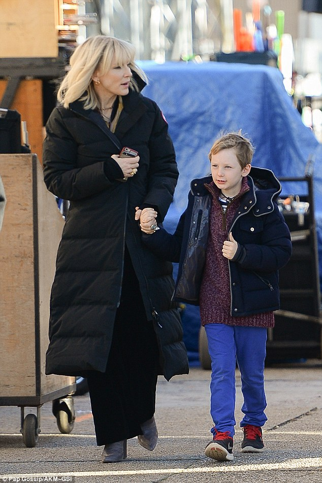 Cate Blanchett Brings Her Young Children To The New York