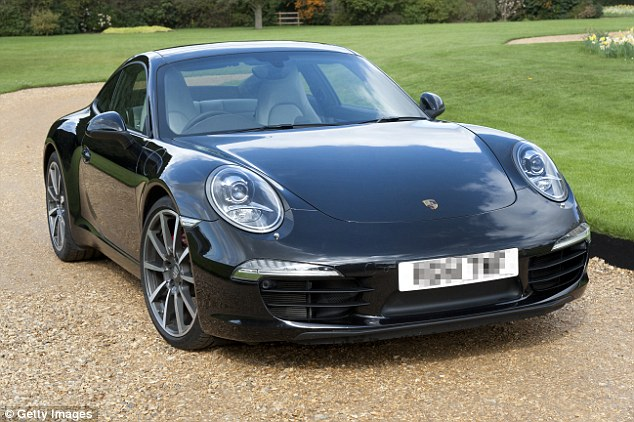 After a night of drinking and dancing, the 25-year-old was over the legal alcohol limit and so left his Porsche Carrera S with its hazard lights flashing, and then took a taxi home (stock photo)