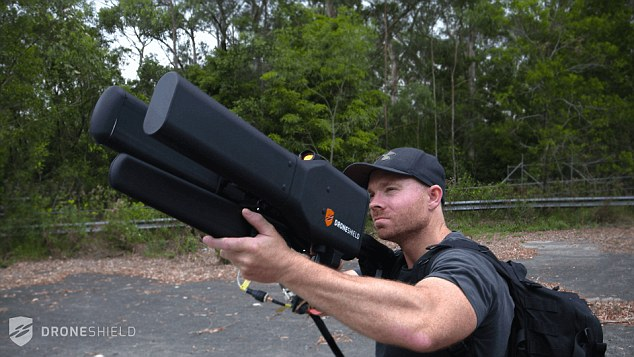 The DroneGun is a signal-jamming rifle capable of taking out an Unmanned Aerial Vehicle (UAV) from 1.2 miles (2km ) away