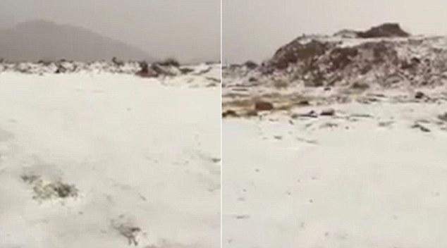 Nonostante novembre presa in considerazione la stagione fredda nel paese, le temperature sono ancora prevede di raggiungere 27 gradi domani, ma in Tabaraj oggi nella regione settentrionale di Al-Jawf ha ottenuto freddo come -3 gradi