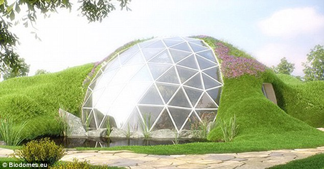 A firm has unveiled a luxurious design that is not only eco-friendly, but protects dwellers from earthquakes and wind. Called Biodomes, these glass and metal geodesic domes are available in 20 different variations that let owners add anything from an indoor pool to an apartment
